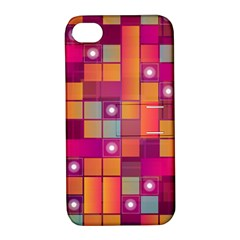 Abstract Background Colorful Apple Iphone 4/4s Hardshell Case With Stand by Onesevenart