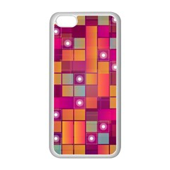 Abstract Background Colorful Apple Iphone 5c Seamless Case (white) by Onesevenart