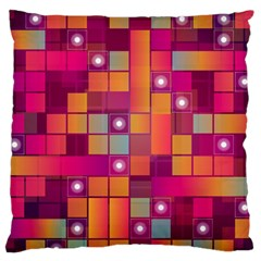 Abstract Background Colorful Large Flano Cushion Case (two Sides) by Onesevenart
