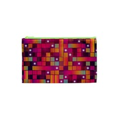 Abstract Background Colorful Cosmetic Bag (xs) by Onesevenart