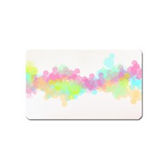 Abstract Color Pattern Colorful Magnet (name Card) by Onesevenart