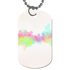 Abstract Color Pattern Colorful Dog Tag (two Sides) by Onesevenart