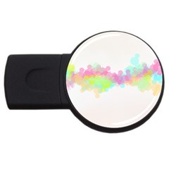 Abstract Color Pattern Colorful Usb Flash Drive Round (4 Gb) by Onesevenart