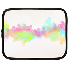 Abstract Color Pattern Colorful Netbook Case (large) by Onesevenart