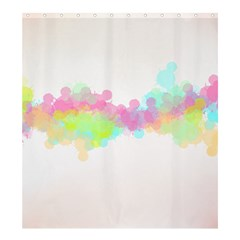 Abstract Color Pattern Colorful Shower Curtain 66  X 72  (large)  by Onesevenart