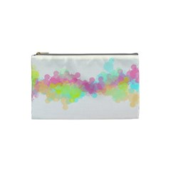 Abstract Color Pattern Colorful Cosmetic Bag (small)  by Onesevenart