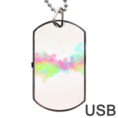 Abstract Color Pattern Colorful Dog Tag Usb Flash (two Sides) by Onesevenart