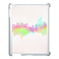 Abstract Color Pattern Colorful Apple Ipad 3/4 Case (white) by Onesevenart