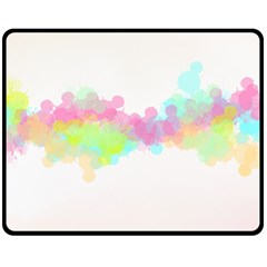 Abstract Color Pattern Colorful Double Sided Fleece Blanket (medium)  by Onesevenart