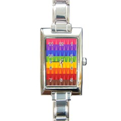 Abstract Pattern Background Rectangle Italian Charm Watch by Onesevenart