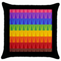 Abstract Pattern Background Throw Pillow Case (black) by Onesevenart