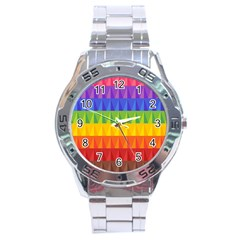 Abstract Pattern Background Stainless Steel Analogue Watch by Onesevenart