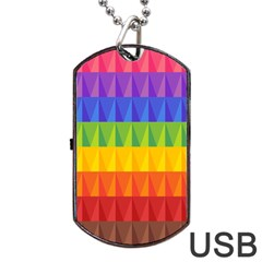 Abstract Pattern Background Dog Tag Usb Flash (two Sides) by Onesevenart