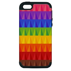 Abstract Pattern Background Apple Iphone 5 Hardshell Case (pc+silicone) by Onesevenart