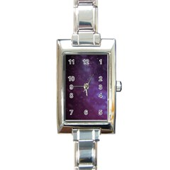 Abstract Purple Pattern Background Rectangle Italian Charm Watch by Onesevenart