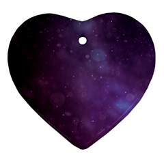 Abstract Purple Pattern Background Ornament (heart) by Onesevenart