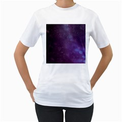 Abstract Purple Pattern Background Women s T Shirt (white) (two Sided) by Onesevenart
