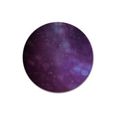 Abstract Purple Pattern Background Magnet 3  (round) by Onesevenart