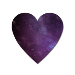 Abstract Purple Pattern Background Heart Magnet by Onesevenart