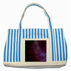 Abstract Purple Pattern Background Striped Blue Tote Bag by Onesevenart