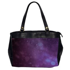 Abstract Purple Pattern Background Office Handbags (2 Sides)  by Onesevenart