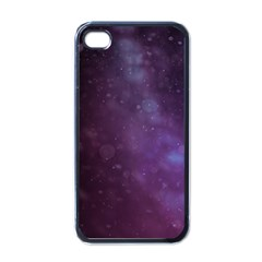 Abstract Purple Pattern Background Apple Iphone 4 Case (black) by Onesevenart
