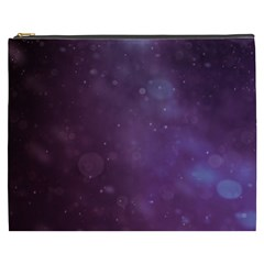 Abstract Purple Pattern Background Cosmetic Bag (xxxl)  by Onesevenart