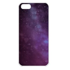 Abstract Purple Pattern Background Apple Iphone 5 Seamless Case (white) by Onesevenart