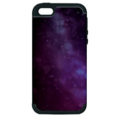 Abstract Purple Pattern Background Apple Iphone 5 Hardshell Case (pc+silicone)