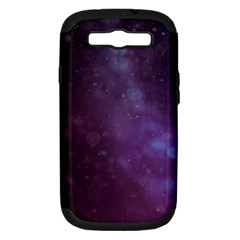 Abstract Purple Pattern Background Samsung Galaxy S Iii Hardshell Case (pc+silicone) by Onesevenart