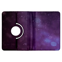 Abstract Purple Pattern Background Kindle Fire Hdx Flip 360 Case by Onesevenart