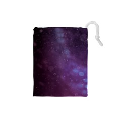 Abstract Purple Pattern Background Drawstring Pouches (small)  by Onesevenart