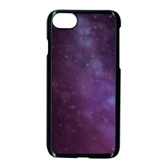 Abstract Purple Pattern Background Apple Iphone 7 Seamless Case (black) by Onesevenart