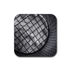 Architecture Roof Structure Modern Rubber Square Coaster (4 Pack)  by Onesevenart