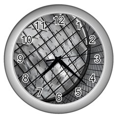 Architecture Roof Structure Modern Wall Clocks (silver)  by Onesevenart