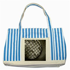 Architecture Roof Structure Modern Striped Blue Tote Bag by Onesevenart