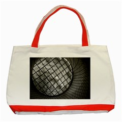 Architecture Roof Structure Modern Classic Tote Bag (red) by Onesevenart