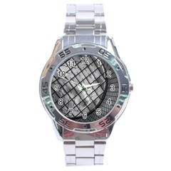 Architecture Roof Structure Modern Stainless Steel Analogue Watch by Onesevenart