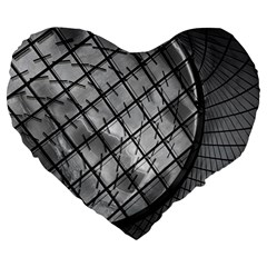 Architecture Roof Structure Modern Large 19  Premium Heart Shape Cushions by Onesevenart