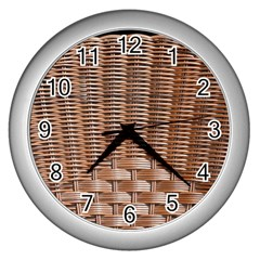 Armchair Folder Canework Braiding Wall Clocks (silver)  by Onesevenart