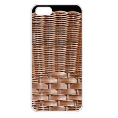 Armchair Folder Canework Braiding Apple Iphone 5 Seamless Case (white) by Onesevenart