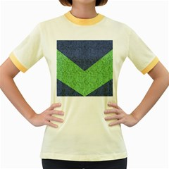Arrow Texture Background Pattern Women s Fitted Ringer T Shirts by Onesevenart