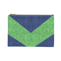 Arrow Texture Background Pattern Cosmetic Bag (large)  by Onesevenart