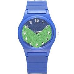 Arrow Texture Background Pattern Round Plastic Sport Watch (s) by Onesevenart