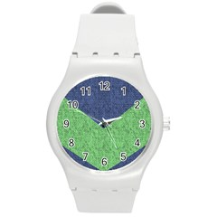 Arrow Texture Background Pattern Round Plastic Sport Watch (m) by Onesevenart