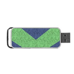 Arrow Texture Background Pattern Portable Usb Flash (two Sides) by Onesevenart