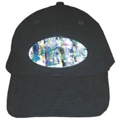 Background Color Circle Pattern Black Cap by Onesevenart