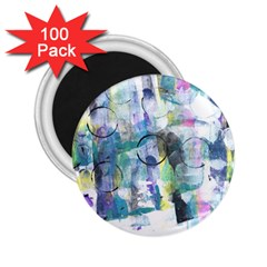 Background Color Circle Pattern 2 25  Magnets (100 Pack)  by Onesevenart