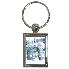 Background Color Circle Pattern Key Chains (rectangle)  by Onesevenart