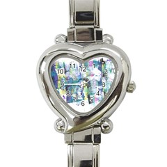 Background Color Circle Pattern Heart Italian Charm Watch by Onesevenart